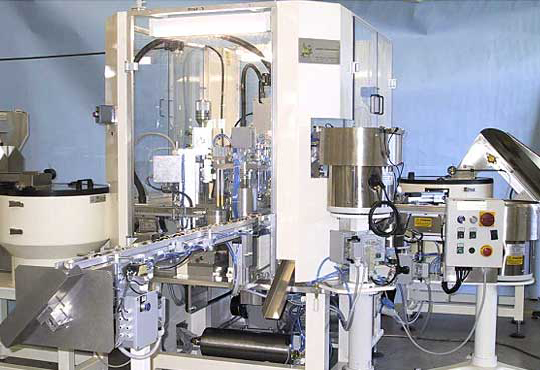 Machinery for the automatic assembly of aerosol valves