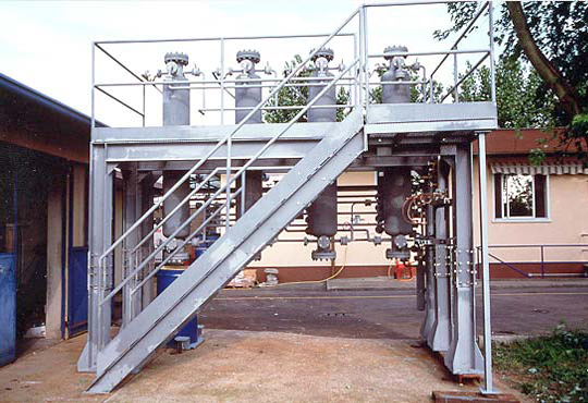 SIHAP® Unit, specially designed for storage and refining of hydrocarbon aerosol propellant (HAP) up to cosmetic grade.